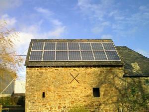 panneaux capteurs solaires