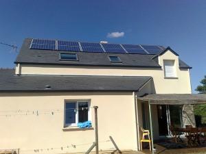panneaux photovoltaiques sur toit