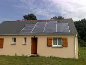 panneaux solaires toit