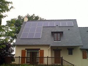 toit panneaux photovoltaiques